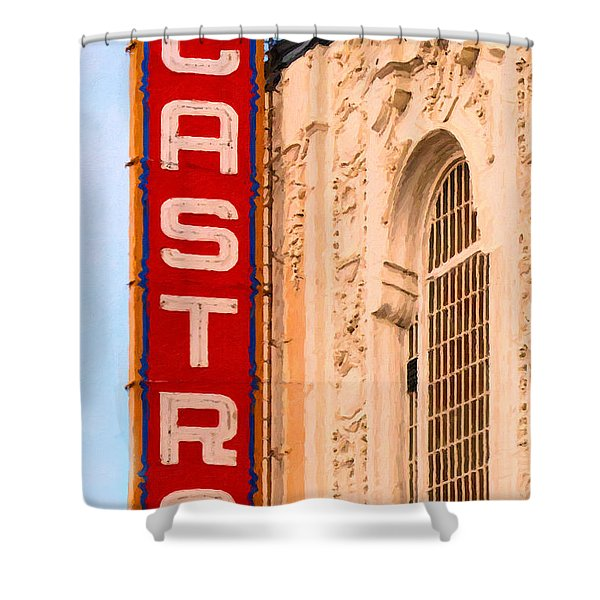 San Francisco Castro Theater Shower Curtain by Wingsdomain Art and Photography