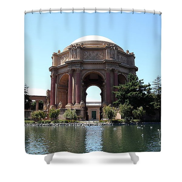 San Francisco Palace of Fine Arts - 5D18107 Shower Curtain by Wingsdomain Art and Photography