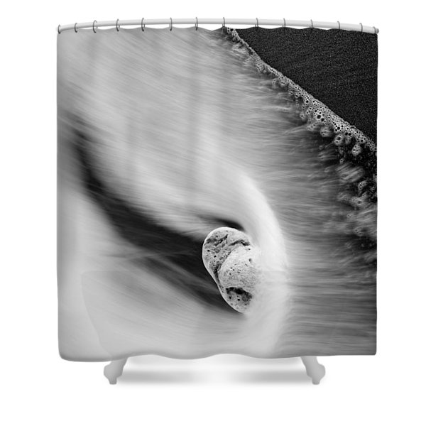 Sand and Sea Shower Curtain by Mike  Dawson