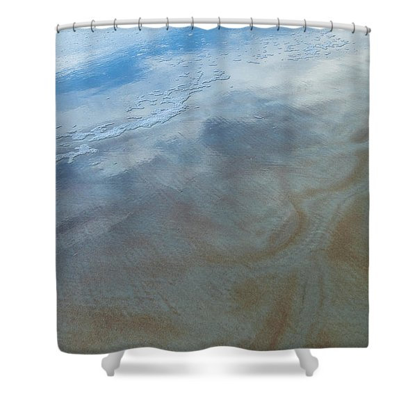 Sandy Beach Abstract Shower Curtain by Carolyn Marshall