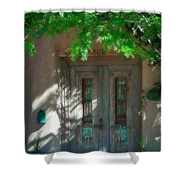 Santa Fe Door Shower Curtain by David Patterson