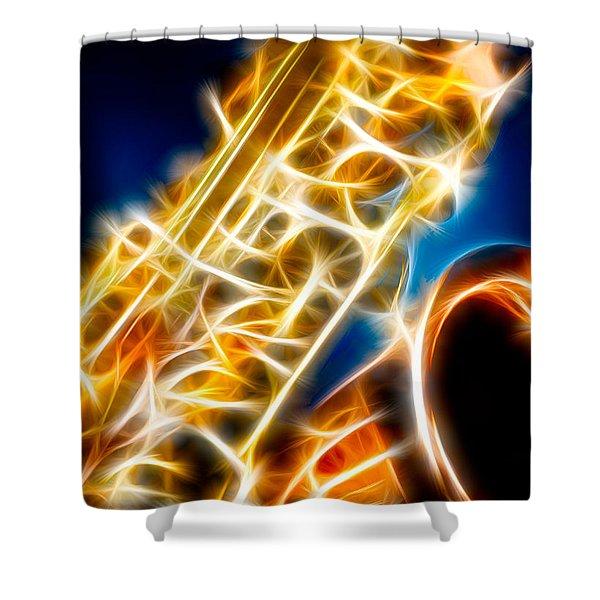 Saxophone 2 Shower Curtain by Hakon Soreide