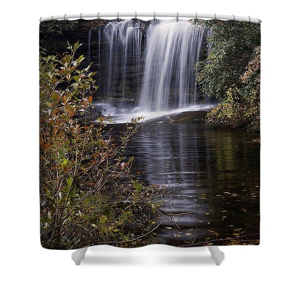Schoolhouse Falls Shower Curtain by Rob Travis
