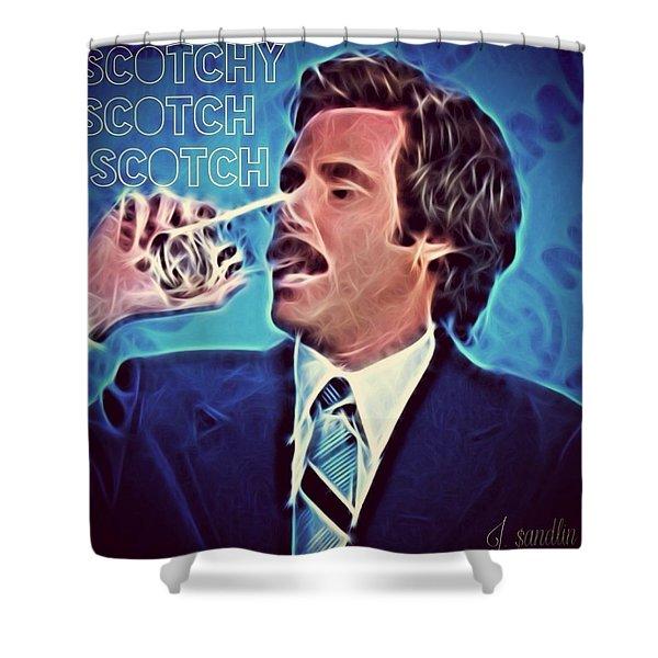 Scotchy Scotch Scotch Shower Curtain by J S