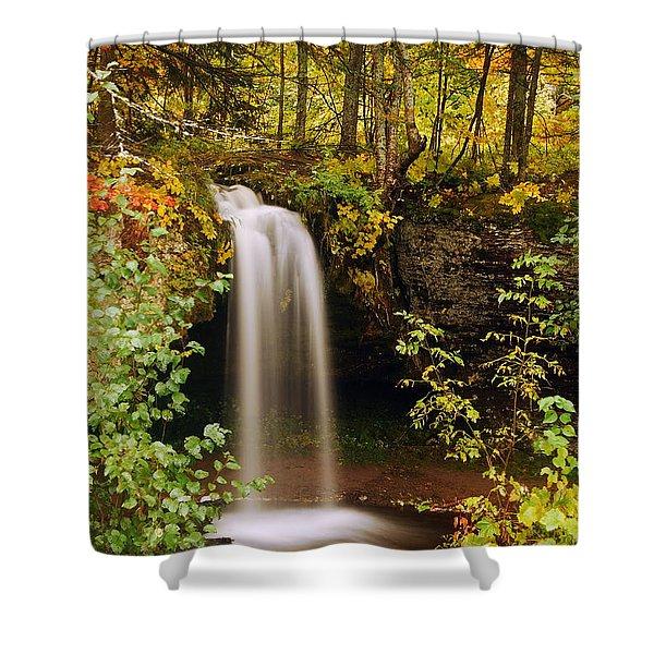 Scott Falls Shower Curtain by Michael Peychich