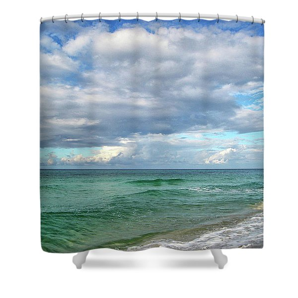 Sea and Sky - Florida Shower Curtain by Sandy Keeton