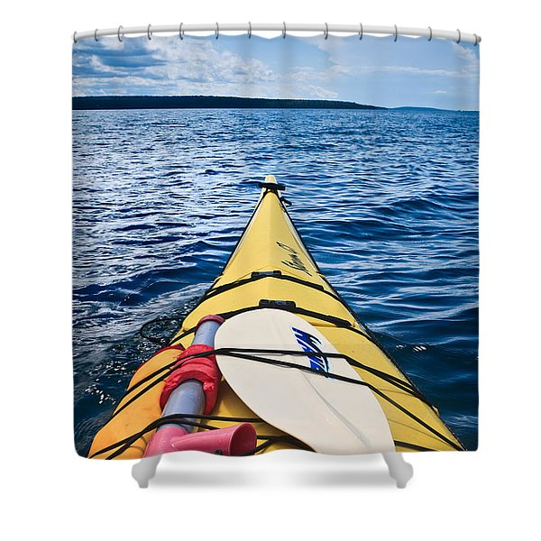 Sea Kayaking Shower Curtain by Steve Gadomski