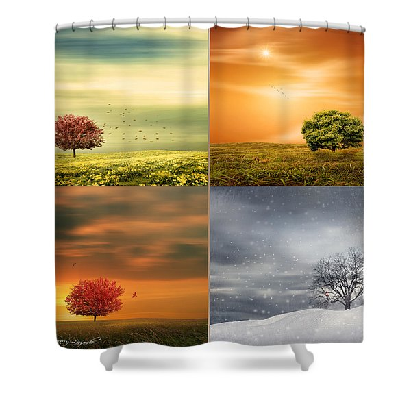 Seasons' Delight Shower Curtain by Lourry Legarde