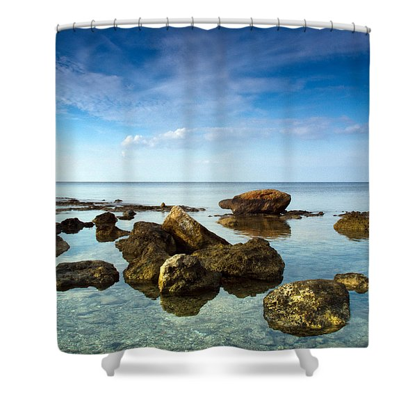 serene Shower Curtain by Stylianos Kleanthous