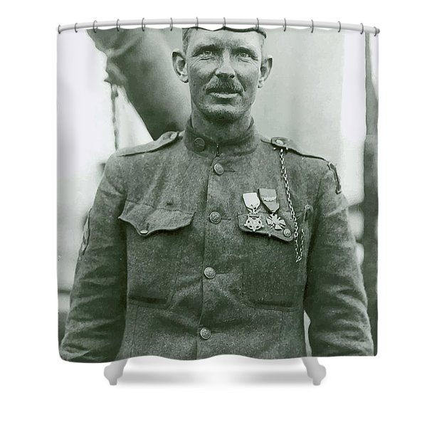 Sergeant Alvin York Shower Curtain by War Is Hell Store