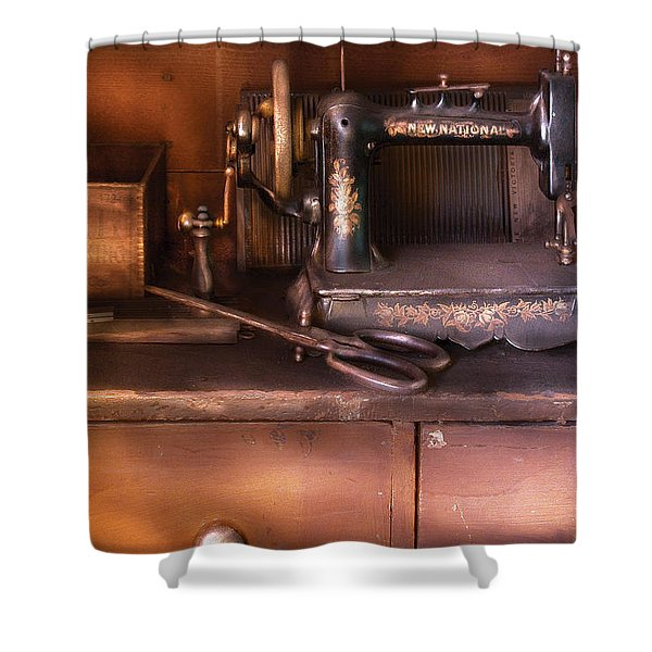 Sewing - New National Sewing Machine Shower Curtain by Mike Savad