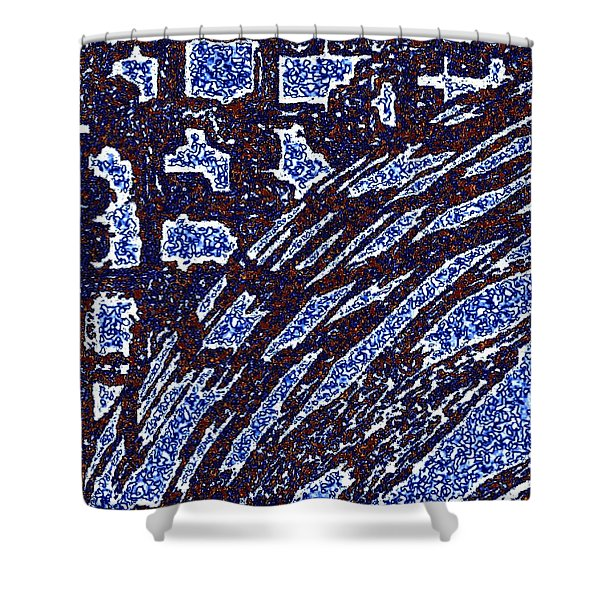 Shards And Pieces Shower Curtain by Will Borden