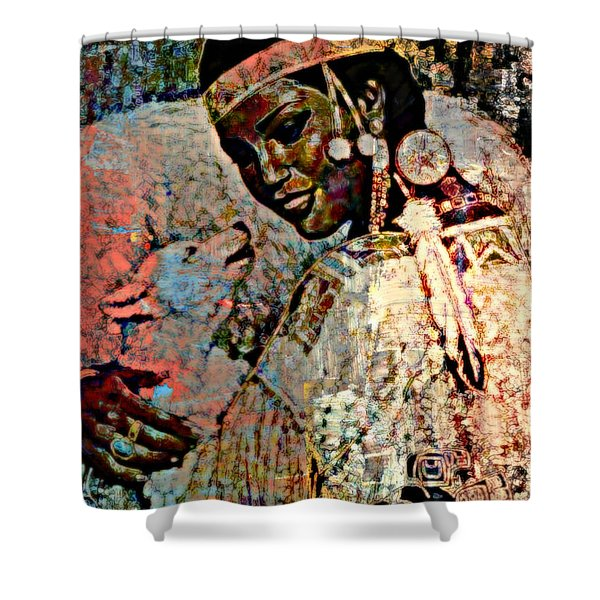 She Dances With Wolves Shower Curtain by WBK