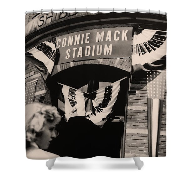 Shibe Park - Connie Mack Stadium Shower Curtain by Bill Cannon