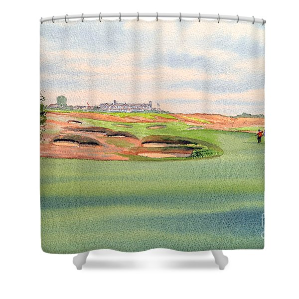 Shinnecock Hills Golf Course Shower Curtain by Bill Holkham