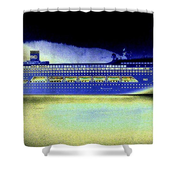 Shipshape 7 Shower Curtain by Will Borden
