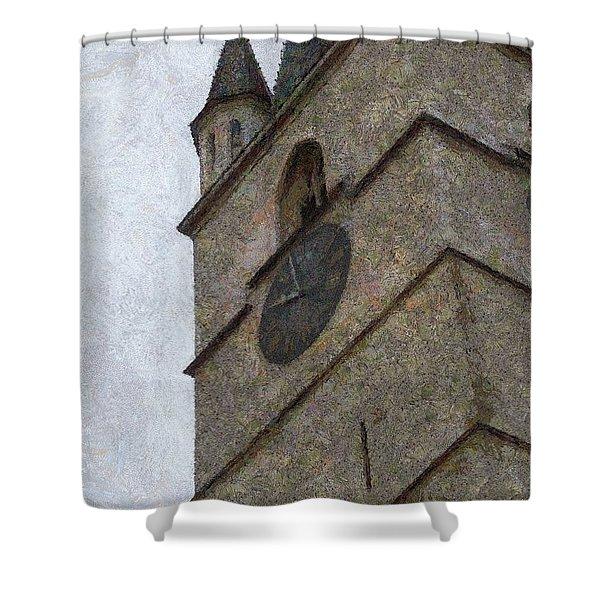 Sibiu Clock Tower Shower Curtain by Jeff Kolker