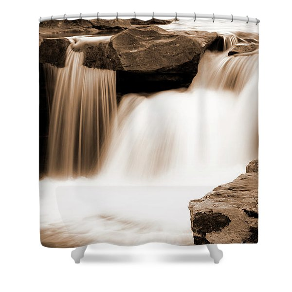 Silken Waters Shower Curtain by Tamyra Ayles