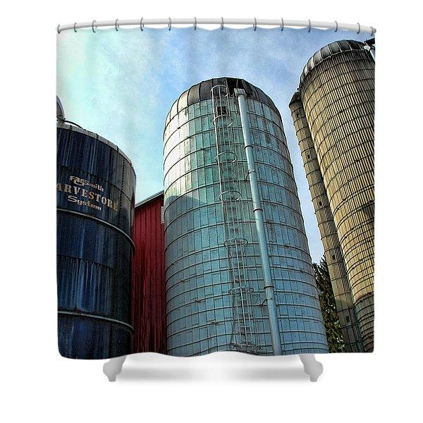 SILOS Shower Curtain by Paul Ward