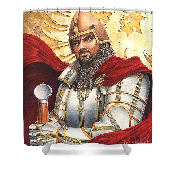 Sir Gawain Shower Curtain by Melissa A Benson