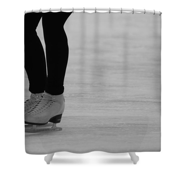 Skating II Shower Curtain by Lauri Novak