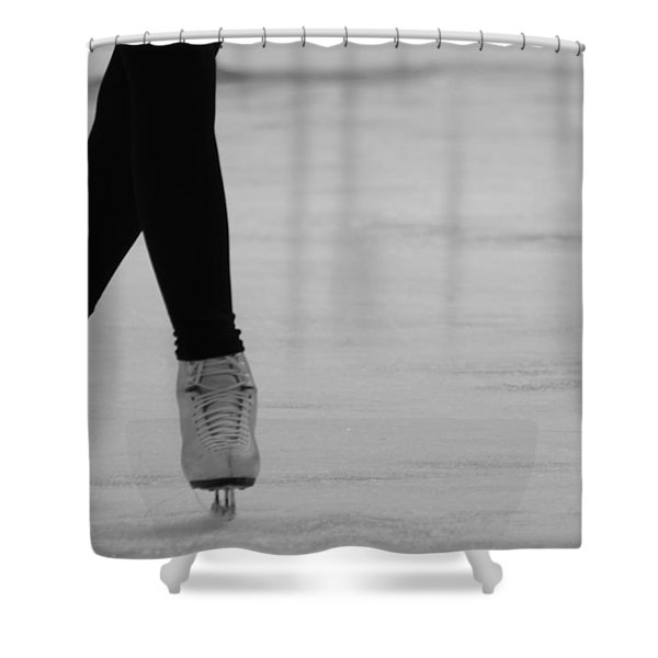 Skating Shower Curtain by Lauri Novak