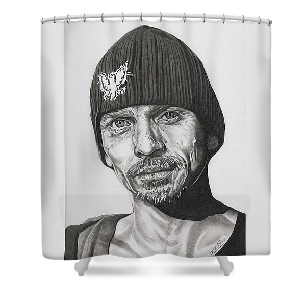 Skinny Pete  Breaking Bad Shower Curtain by Fred Larucci