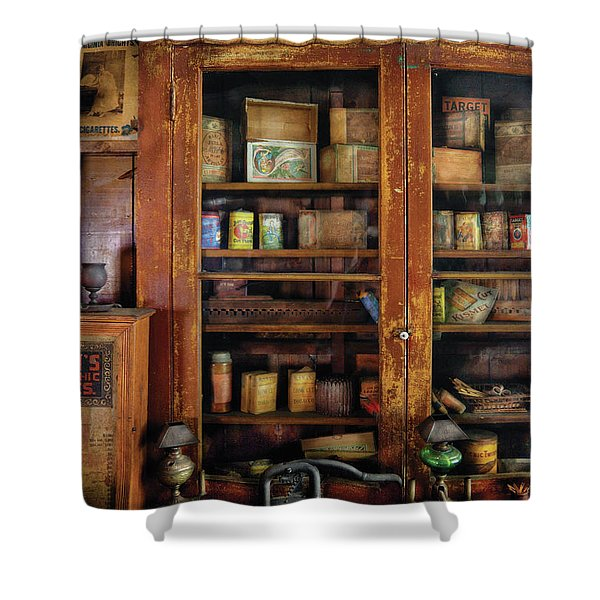 Smoker - Fine Tobacco Products Shower Curtain by Mike Savad