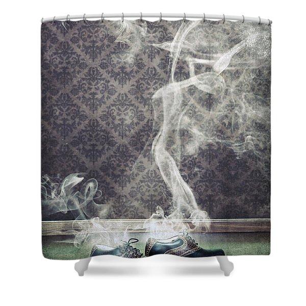 smoky shoes Shower Curtain by Joana Kruse