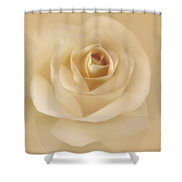 Soft Golden Rose Flower Shower Curtain by Jennie Marie Schell
