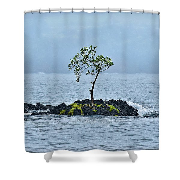 Solitude In Hilo Bay Shower Curtain by Christopher Holmes