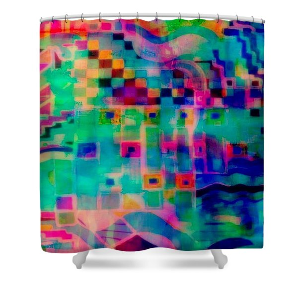 South Beach Shower Curtain by WBK