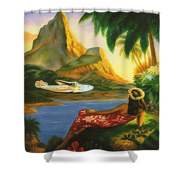 South Sea Isles Shower Curtain by Nomad Art And  Design