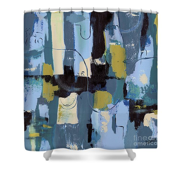 Spa Abstract 2 Shower Curtain by Debbie DeWitt