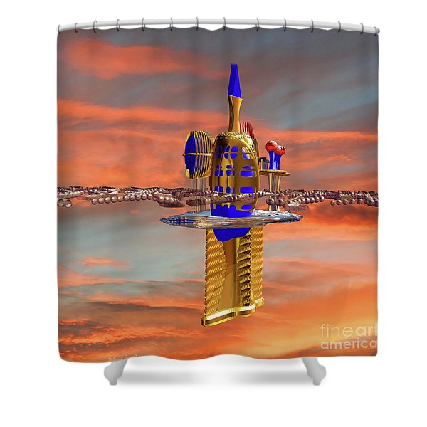 Space Station 3 Shower Curtain by Deborah Benoit