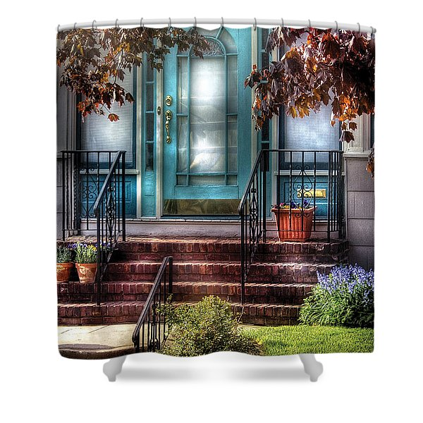 Spring - Door - Apartment Shower Curtain by Mike Savad
