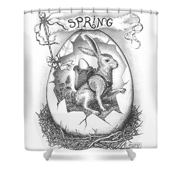 Spring Arrives Shower Curtain by Adam Zebediah Joseph