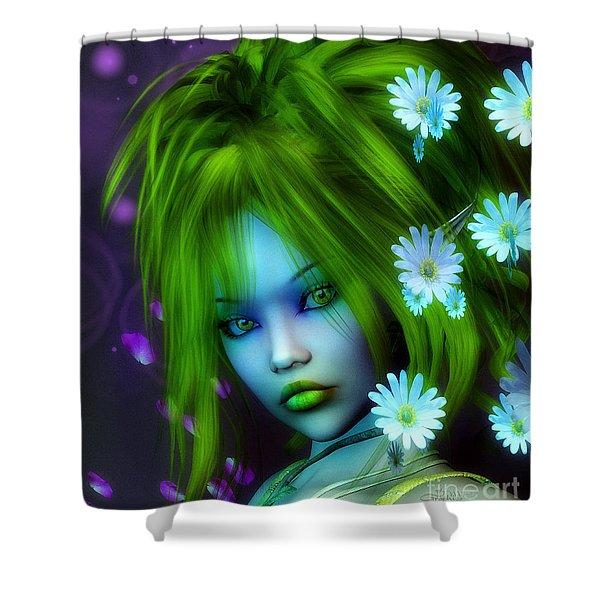 Spring Elf Shower Curtain by Jutta Maria Pusl