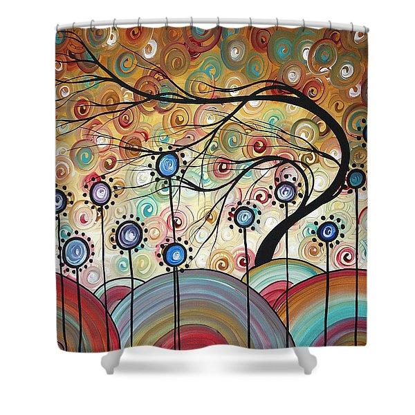 Spring Flowers Original Painting Madart Shower Curtain by Megan Duncanson