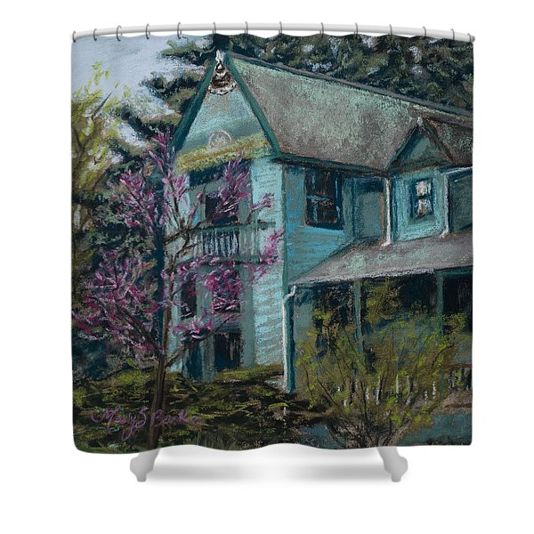 Springtime in Old Town Shower Curtain by Mary Benke