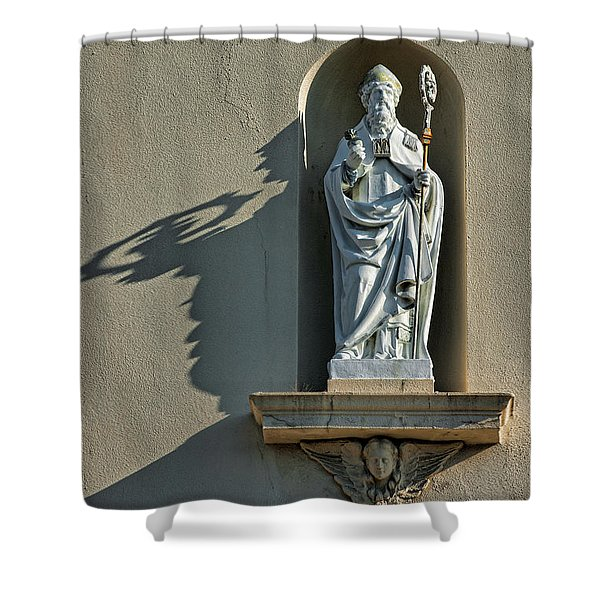 St. Augustine of Hippo Shower Curtain by Christopher Holmes