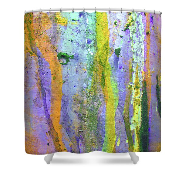 Stains Of Paint Shower Curtain by Carlos Caetano