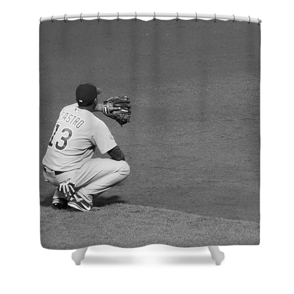 Starlin Castro Chicago Cubs Shower Curtain by Lauri Novak