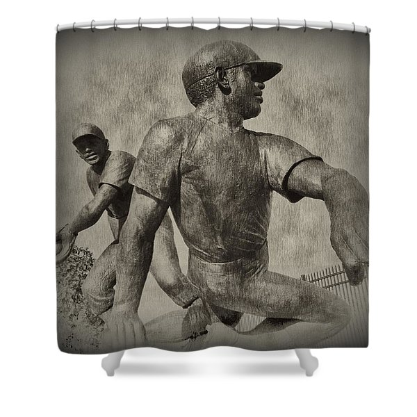 Stealing Third Shower Curtain by Bill Cannon
