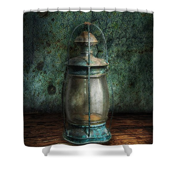 Steampunk - An old lantern Shower Curtain by Mike Savad