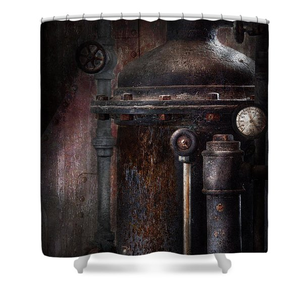 Steampunk - Handling Pressure  Shower Curtain by Mike Savad
