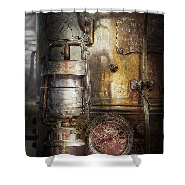 Steampunk - Silent into the night Shower Curtain by Mike Savad