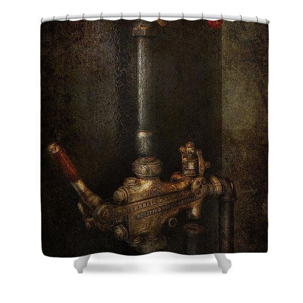 Steampunk - Plumbing - Number 4 - Universal Shower Curtain by Mike Savad
