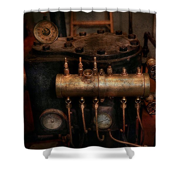 Steampunk - Plumbing - The valve matrix Shower Curtain by Mike Savad