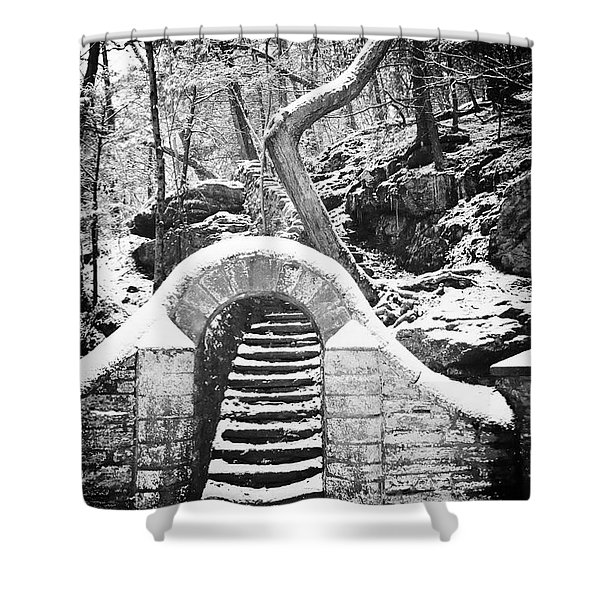 Steps Along The Wissahickon Shower Curtain by Bill Cannon